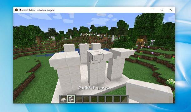 Scalini di quarzo Minecraft