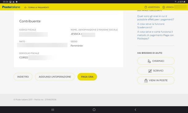 Come pagare F24 con app BancoPosta