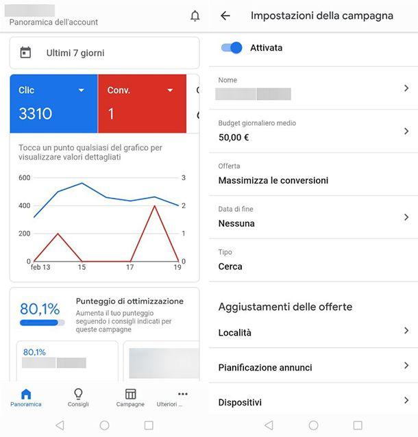 Come creare una campagna Google Ads con lo smartphone