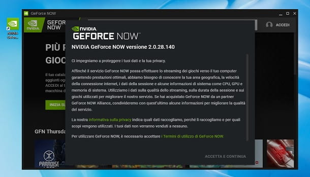 Come installare GeForce NOW su Windows