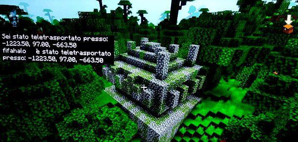 Teletrasporto tempio giungla Minecraft Bedrock
