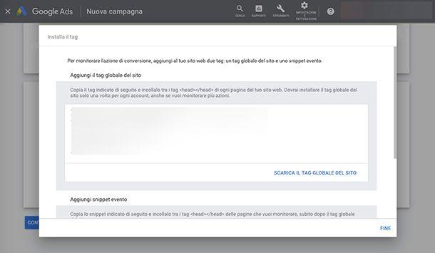 Come creare una campagna Google Ads e installare Tag monitoraggio