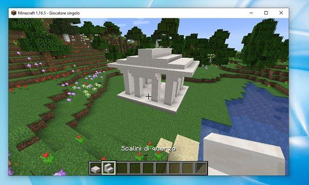 Tempio greco finito Minecraft