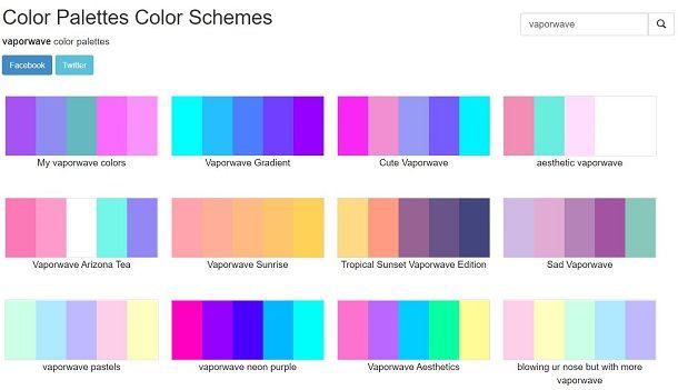 Color Palette vaporwave