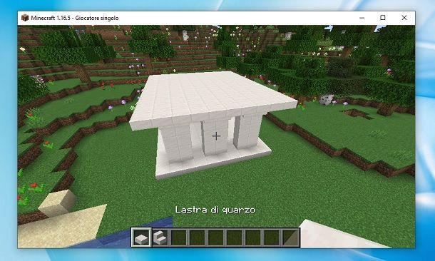 Piano superiore tempio greco Minecraft