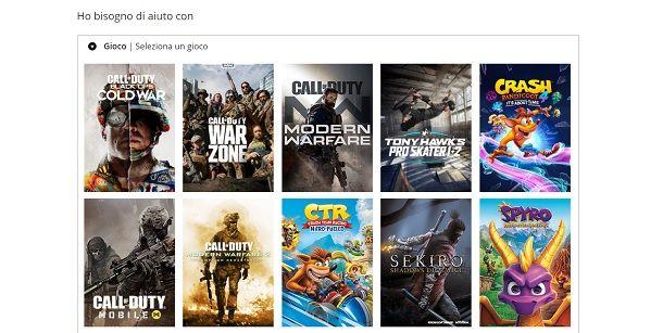 Contattare supporto Activision CoD Mobile