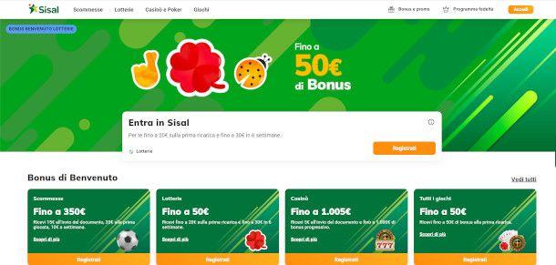 Homepage Sisal