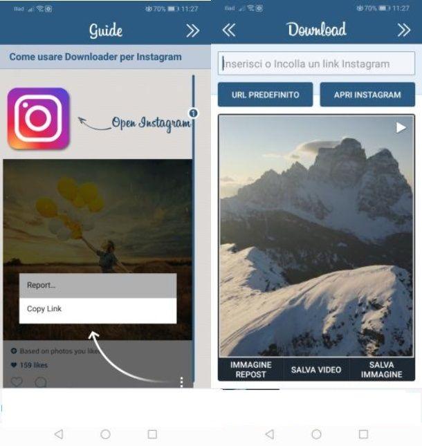 Downloader for Instagram app