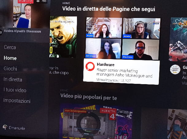 Facebook Watch interfaccia