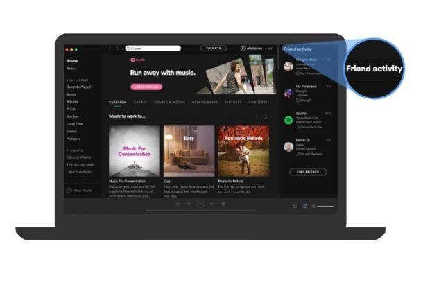 Feed amici Spotify