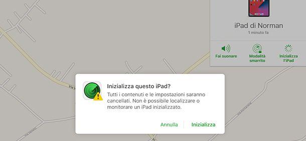inizializza iPad