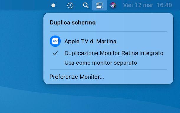 Collegare Apple TV da Mac