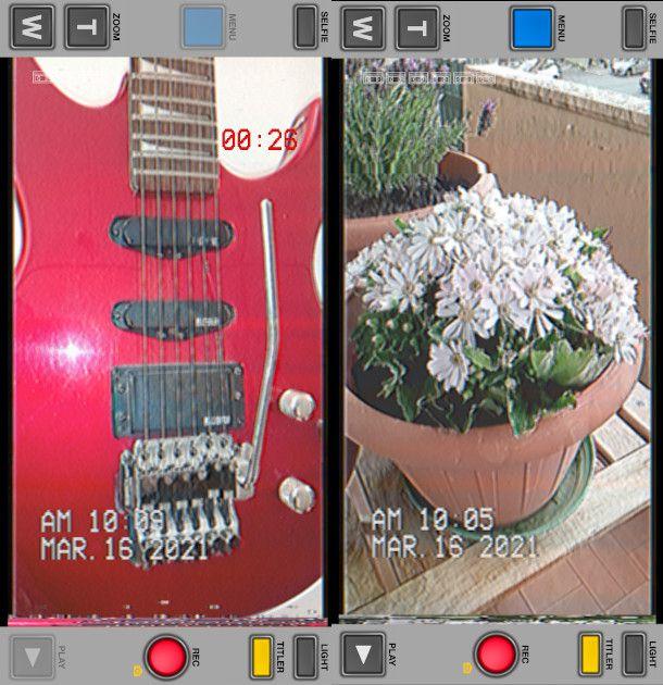screenshot app VHS