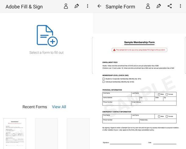 Utilizzare Adobe Fill & Sign per firmare da cellulare i PDF