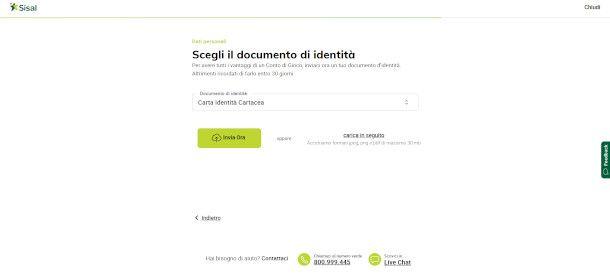 Schermata di inserimento documento