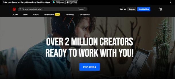 Home page Beatstars