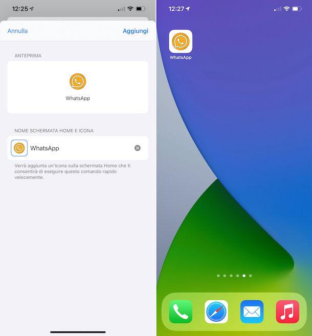 Cambiare icona WhatsApp iOS