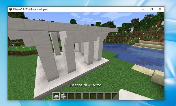 Tempio greco lati Minecraft