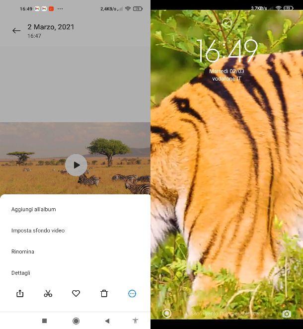 Video schermata blocco Android