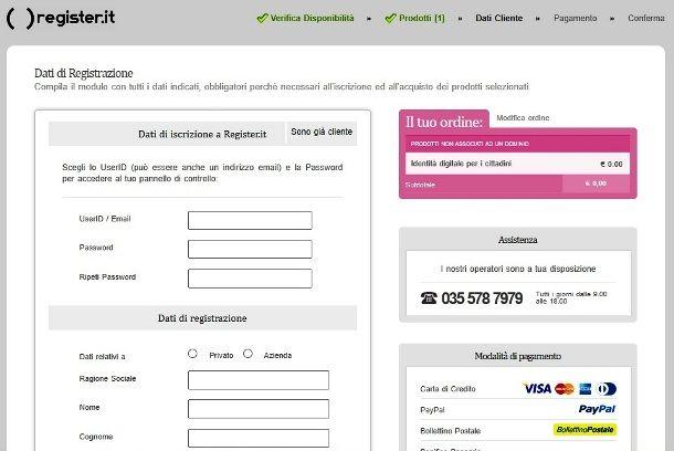 SPID di Register
