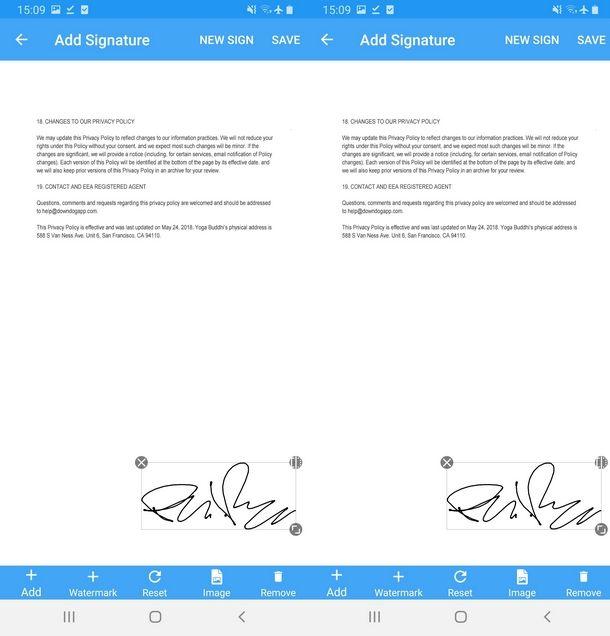 Apporre la firma e salvare il PDF sul cellulare