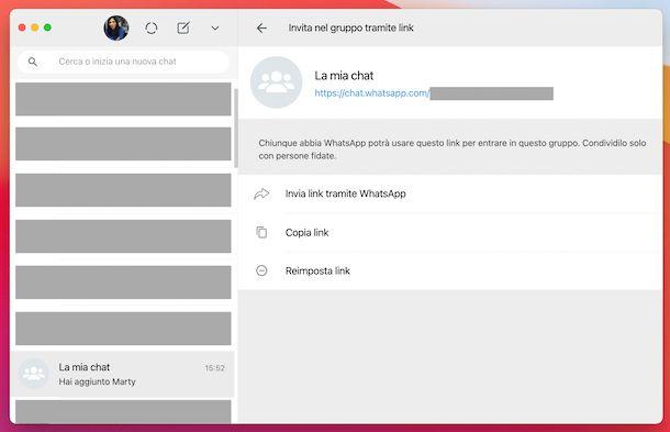 WhatsApp link gruppo computer