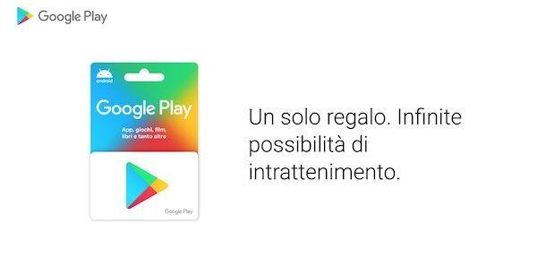 Carta regalo Google Play