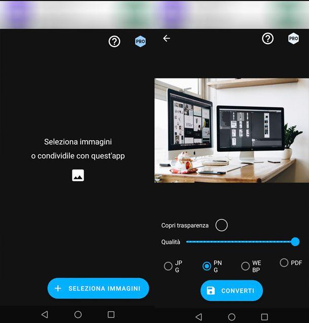 Come trasformare una foto in PNG con Android