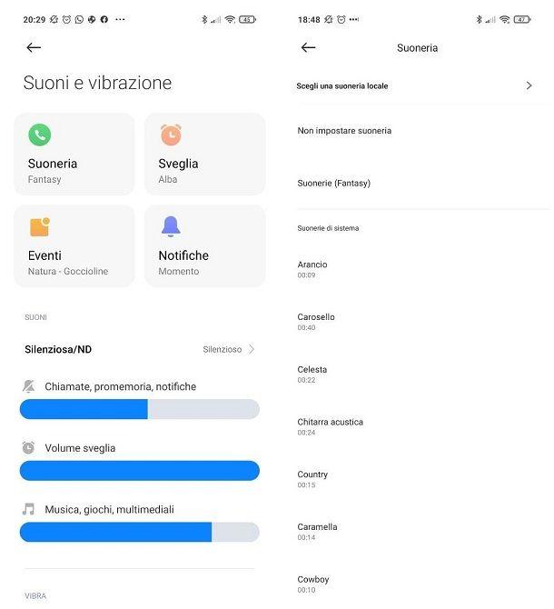 Come personalizzare la suoneria su Android