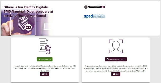 SPID con Namirial ID