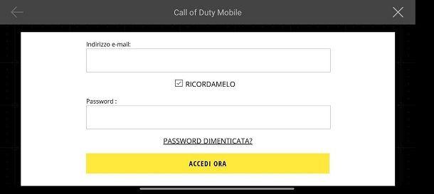 Recupera Account CoD Mobile