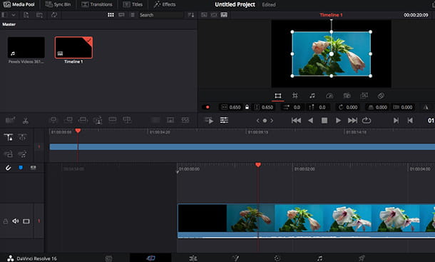 Come ritagliare l'immagine di un video con DaVinci Resolve