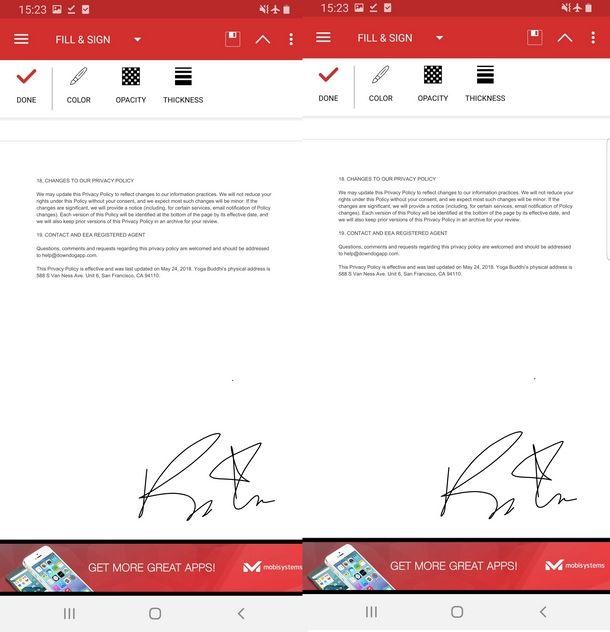 Salvare il documento PDF dopo la firma con PDF Extra