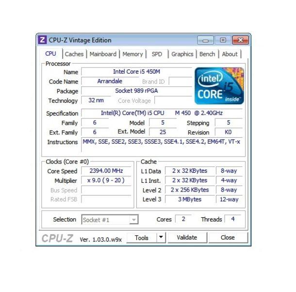 CPU-Z Windows 7