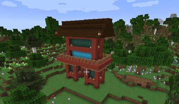Come fare un tempio giapponese su Minecraft