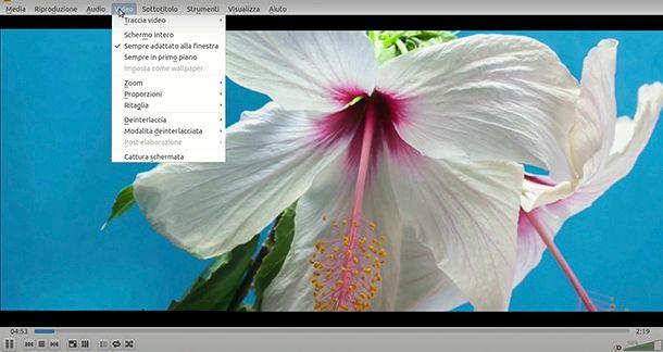 Come ritagliare l'immagine di un video con VLC Media Player