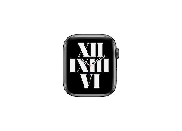 Quadrante Apple Watch Tipografico