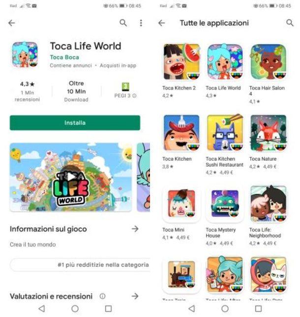 Come scaricare Toca Boca gratis Android
