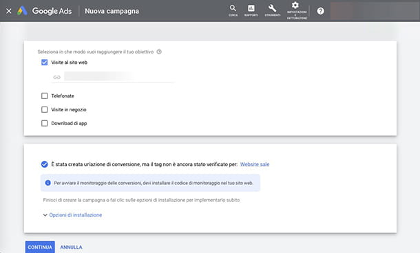 Come creare una campagna Google Ads da PC