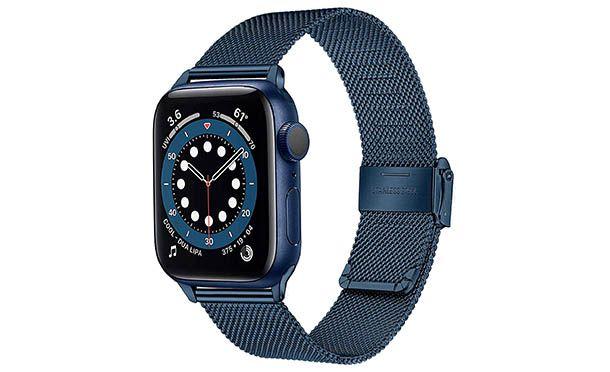 cinturino in maglia blu