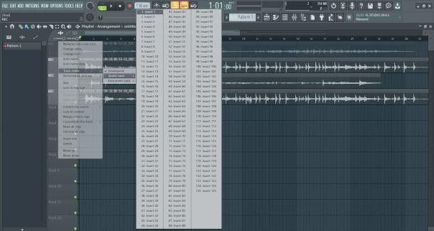 assegnare traccia al mixer su fl studio