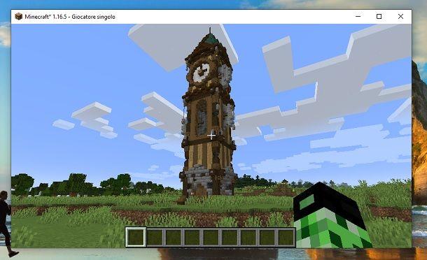 Torre dal basso Minecraft