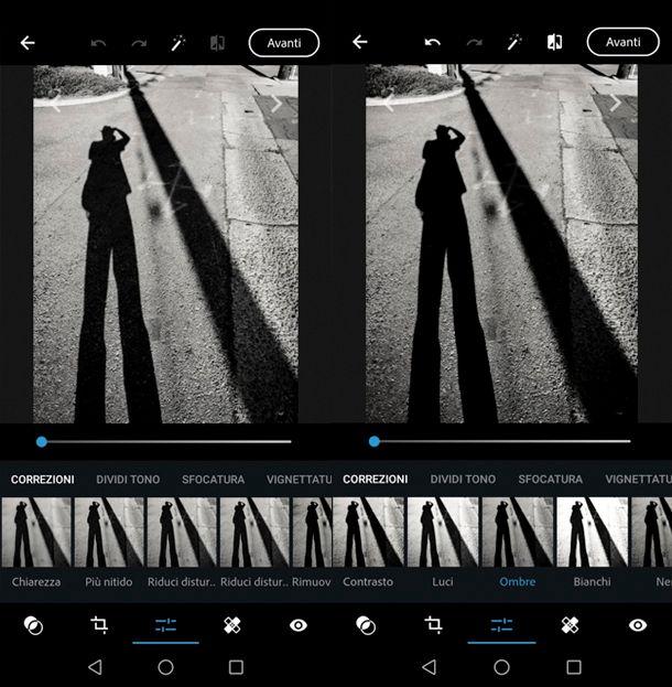 Come fare le ombre su Photoshop con smartphone e tablet