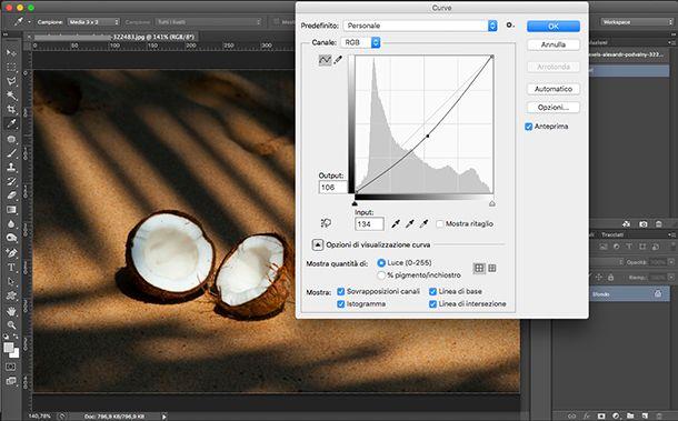 Come fare le ombre su Photoshop con Curve