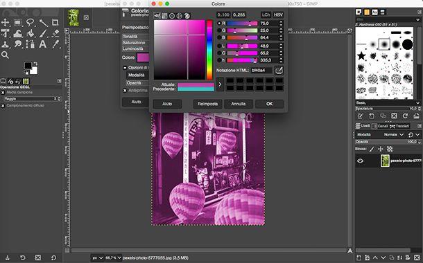 Come fare foto Aesthetic da PC con GIMP