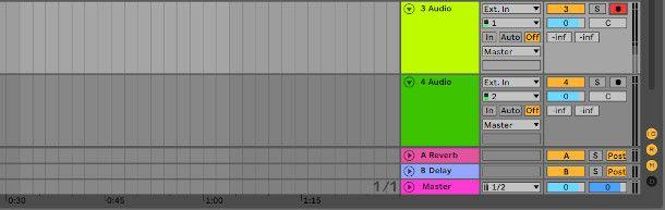 esempio di armatura della traccia su Ableton Live