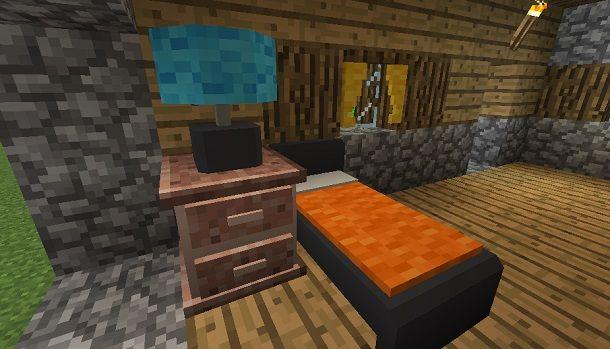 camera da letto su Minecraft