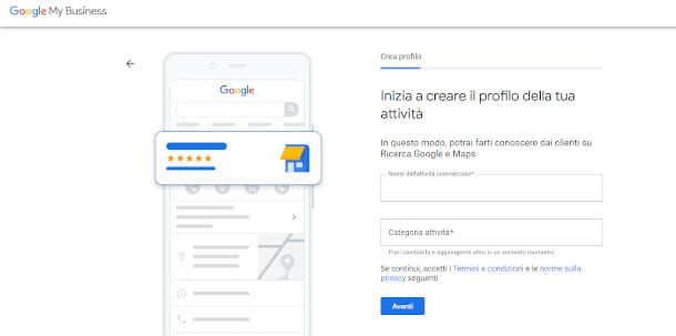 schermata google my business