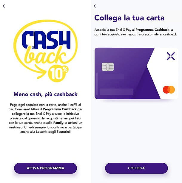App per cashback senza SPID Enel X-Pay