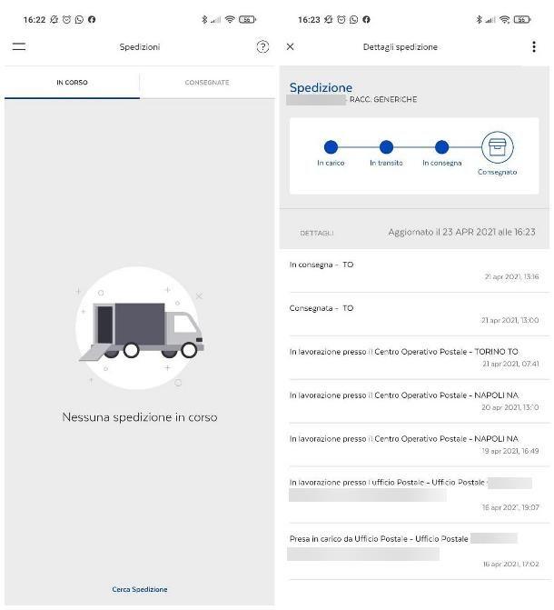 Come vedere la data di notifica di una raccomandata da smartphone e tablet